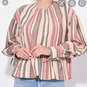 NWT ulla johnson calice blouse in rosewood